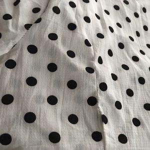 Vintage Dresses - Long vintage polka dot frock with belt